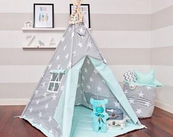 Teepee Tent - Mint Heaven