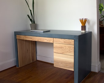 Holland Modern Concrete Desk