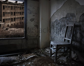 Urban decay print, grunge decor, contemporary print, free US shipping, fine art print, urban exploration, derelict building