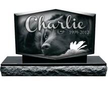 Personalized Pet Memorial Headstone - Pet - Dog - Cat - Mini Monument - Black