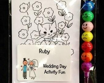 5 x Wedding Day kids activity fun pack