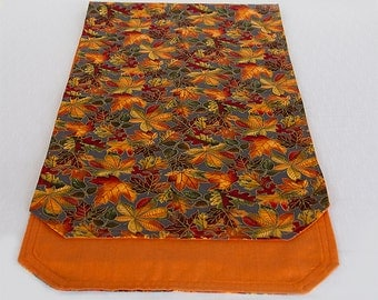 Autumn Leaves Table Runner,  Thanksgiving Table Runner,  Mantle Scarf, Sideboard or Buffet Scarf in Fall Colors