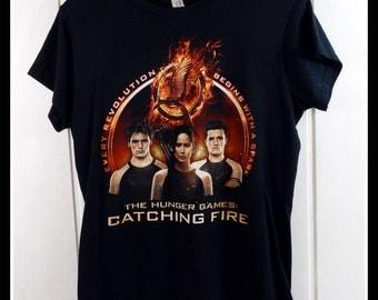 the hunger games catching fire t shirt t-shirt tshirt tee large L