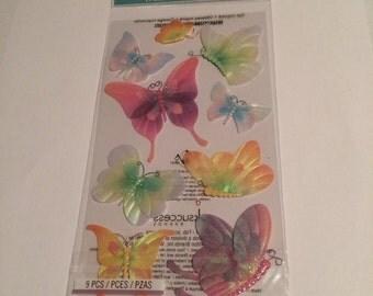 3D Glitter Butterflies