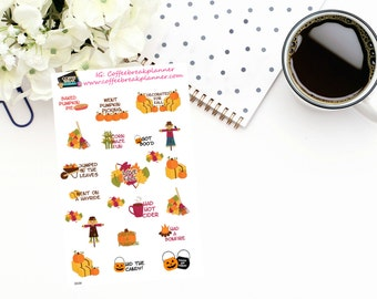Planner Stickers| Pumpkin Season Stickers| Fall Fun Stickers|Fall Event Stickers|Family Fun Stickers|Pumpkin Stickers|D039