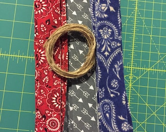 DIY Cowboy and Indian Rag Tie Garland/Bunting