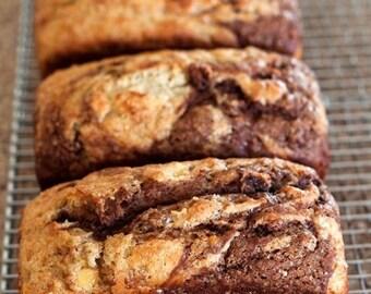 Marbled Banana Bread, Chocolate Bread, Gourmet Bread, Luxury Bread, Sweet Treats, Afternoon Tea Cake, Sweet Desserts, Sweet Puddings