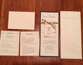 Custom Arrow Wedding Invitation
