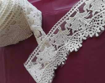 Cotton Embroidered Net Lace 8cm