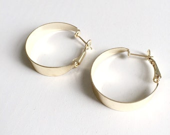 Golden retro hoops
