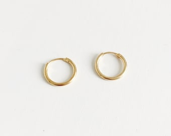 Simple hoop earrings, small hoop earrings