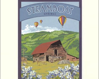 Steamboat Springs: Colorado Series, The Bungalow Craft by Julie Leidel, WPA-Style Poster Art, Arts & Crafts Movement