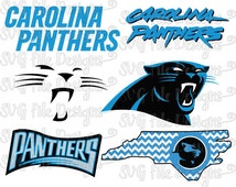 Carolina Panthers Football Logo Design Cutting File / Printable Clipart Set in Svg, Eps, Dxf, Png, and Jpeg Format for Cricut and Silhouette