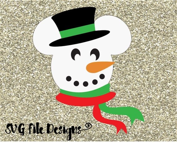 Mickey mouse snowman disney layered monogram by svgfiledesigns