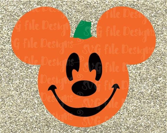 Halloween Mickey Mouse Pumpkin Jack-o-lantern By