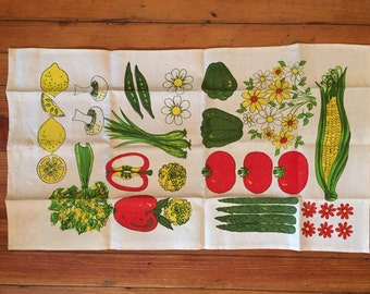 Vintage Produce Dish Cloth