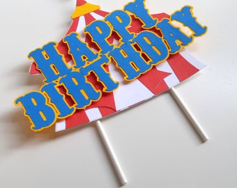 Circus Cake Topper, Smash Cake Topper, Circus Birthday Decorations, Carnival Party Decorations, Circus Centerpiece, Circus Photo Prop