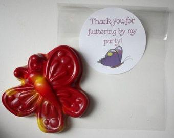 Butterfly Thank You Party Favor Crayon Fairy Garden Party