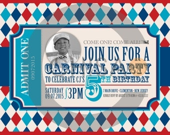 Carnival Birthday Invite