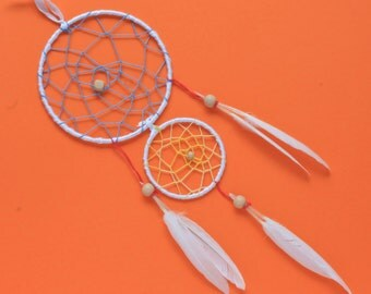 Kids craft kit - Dream Catcher kit - make your own bedroom accessory craft activity - pink and white - last one!