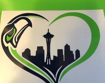 Seahawks heart decal