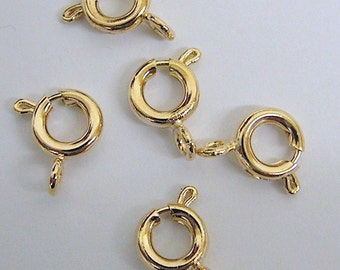 8mm Spring Clasp Gold Filled 18K GF, GF0004