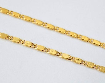 "Gold Filled Chain 17"" Inch 18k Gold-filled gold tone findings for gold filled jewelry making Cg39"