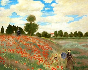 Red Poppies At Argen Teuil, Oil Painting