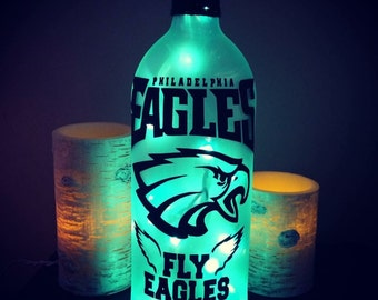 Philadelphia Eagles NFL wine bottle light