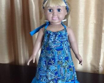 "Handmade American Girl /18"" doll dress"
