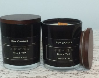Soy Candle, Coconut & Lime