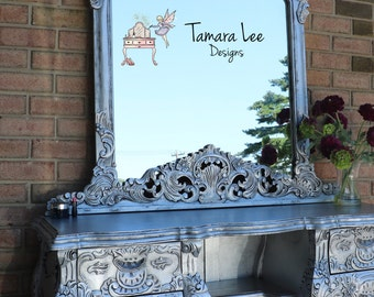 Glam Vanity with Mirror/SOLD
