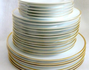 Set of Noritake Carrie, 6 Dinner Plates, 12 Salad Plates, 6 Dessert Plates,  Retired Pattern from 1970s and 1980s