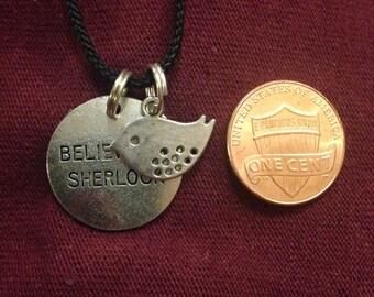 Believe in Sherlock with Bird Geek Jewelry Necklace
