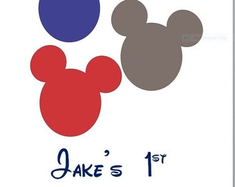 Custom Personalized Mickey Mouse Disney Iron on Decal (Not Download)