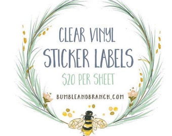 Clear Sticker Labels