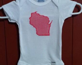Newborn Wisconsin onesie