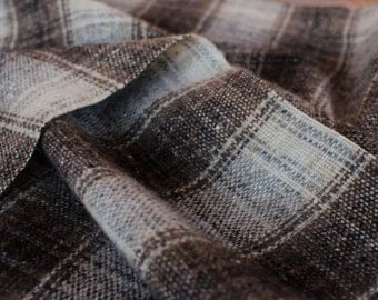 1yd x 62'' Beige Brown Soft Wool Medium Weight Fashion Fabric / 100% Bristish Vigin Wool / by the yard