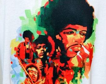 Jimi Hendrix , Jimi Hendrix Tshirt,Jimi Hendrix Shirt, Music , Rock,Shirt,tshirt, Tee, Tees,shirt ,tshirt