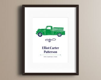 Custom Personalized Vintage Truck Print