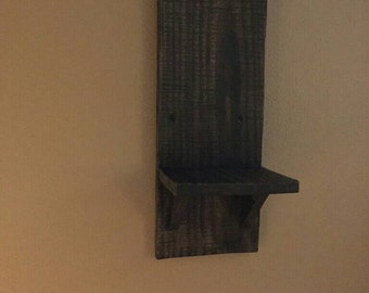Pallet wall candle sconce