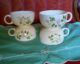 Beautiful Rose ... 4 vintage cups