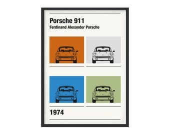 Poster subject graphic Porsche 911