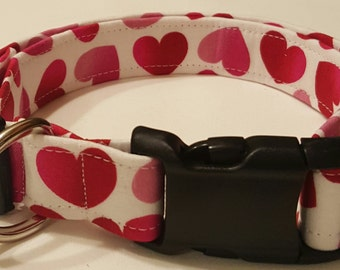 Dog Collar, Pink/Red Hearts, Valentines Day, Cupid, Valentines day dog collar