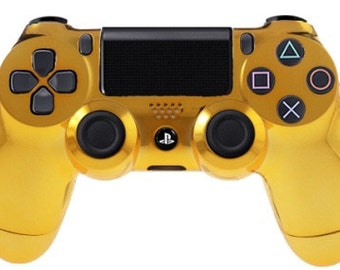 Playstation 4 Gold Chrome Modified Video Game Controller