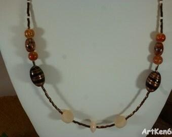 Necklace Autumn colors jewelry women