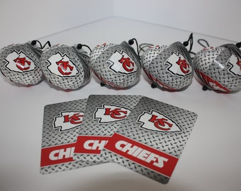 Kansas City Chiefs Ornaments : Single or Set of 5