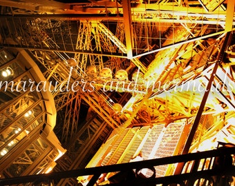 Inside Eiffel Tower, Paris, Photography, Printed on Luster Paper, Landmark, History, France