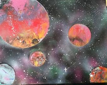 Spray paint universe
