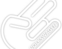 Volkswagen VW Shocker Shocka Shaka Euro Hand Gesture Decal Sticker Car Truck Window Laptop Die Cut Vinyl Select Color/Size